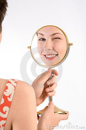 Free Wink In Mirror Stock Images - 3326204