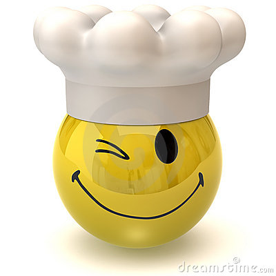 winking smiley chef royalty free stock photo image 13083825