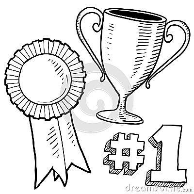 Winner or awards sketch