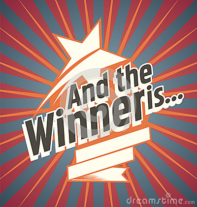 Free Winner Banner Design Royalty Free Stock Images - 43843169