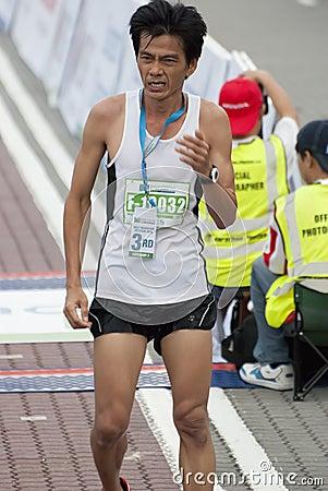 Winner of  KL Marathon Editorial Stock Photo