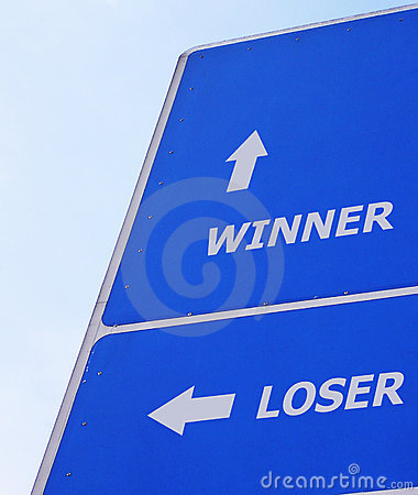 Free Winner Loser Signboard Stock Images - 156134