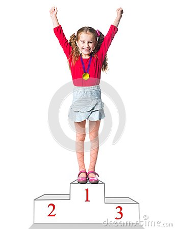 Free Winner On A Podium Royalty Free Stock Images - 35103469