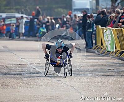 Winner Paddock Wood Wheelchair Race Editorial Stock Image
