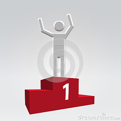 Winner on pedestal icon