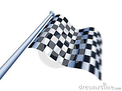 Winner s chequered flag