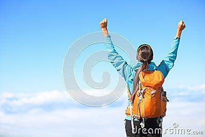 Winner / Success concept - hiking