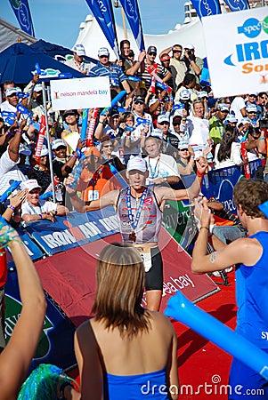 Winner Triathlon, South Africa Editorial Photo