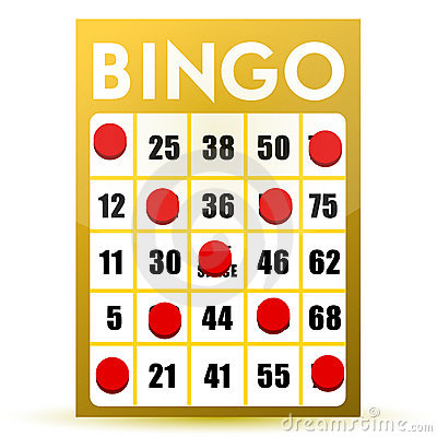 Winner yellow bingo card