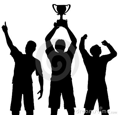 Free Winners Celebrate Trophy Win Stock Photos - 2955383