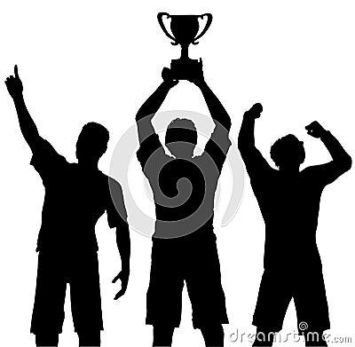 Winners Celebrate Trophy Win