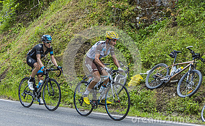 The Winners on Col du Tourmalet Editorial Photography
