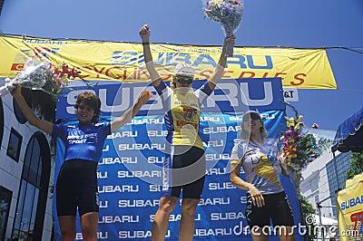 Winners on the podium Editorial Stock Image
