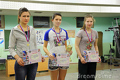 Winners at Traditional Championship archery Editorial Stock Image