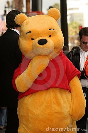 Winnie The Pooh at the ceremony honoring the Disney Character with a star on the Hollywood Walk of Fame. Hollywood Boulevard, Holl Editorial Photo