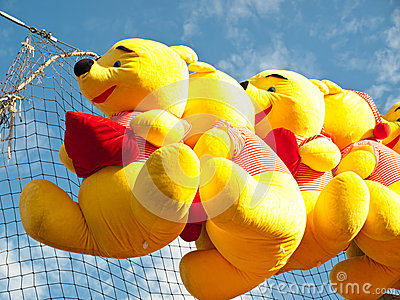 Winnie the pooh stuffed toys Editorial Stock Photo