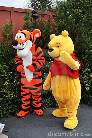 Winnie-the-Pooh and Tigger in Disney World Editorial Photo