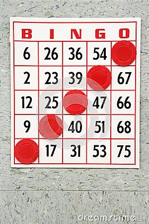 Winning bingo card.