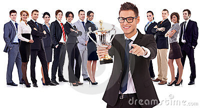 Winning business team