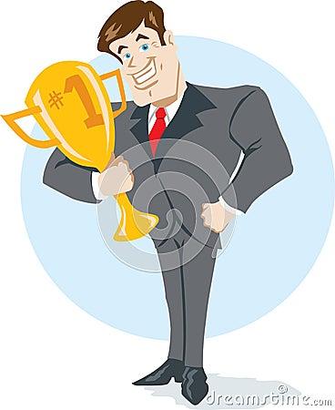 Winning businessman