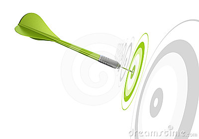 Winning choosing concept dart and target