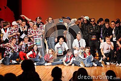 Winning Doberman, Force boom, United bit groups Editorial Stock Photo