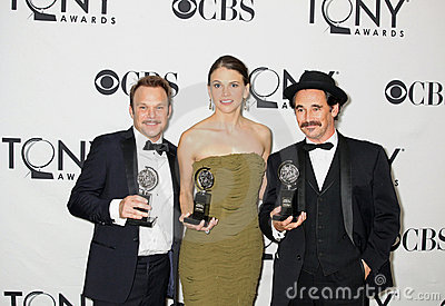 Winning Double Tonys for Trio Editorial Stock Image