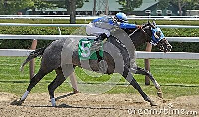 Winning Her First Race Editorial Photo