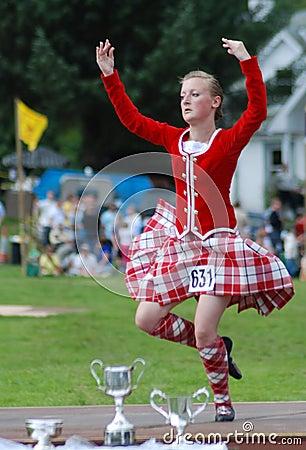 Winning Highland Fling Dancer Editorial Stock Photo