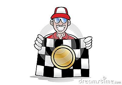 Winning race flag