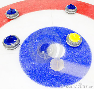 Winning shot at curling