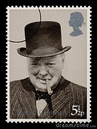 Winston штемпеля почтоваи оплата churchill Редакционное Стоковое Фото