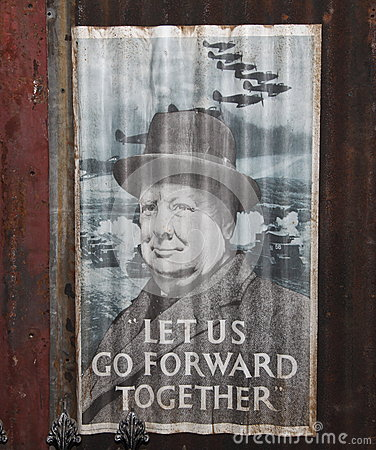 Winston Churchill WWII poster Editorial Stock Image