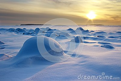 Winter afternoon seascape
