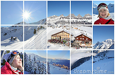 Winter Alps collage
