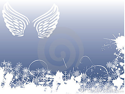 Winter angel background