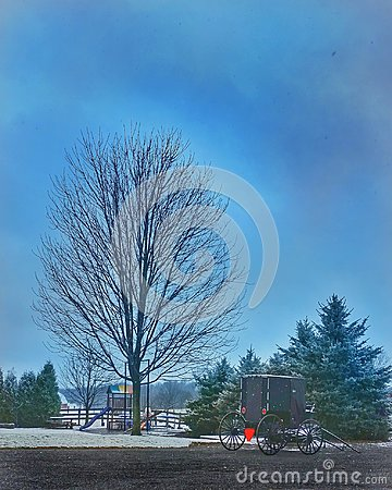 Free Winter At Amish Farm Royalty Free Stock Photography - 106723717
