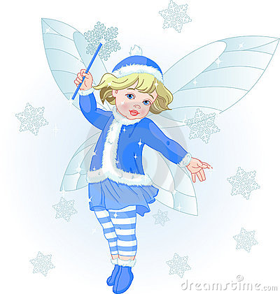 Winter baby fairy