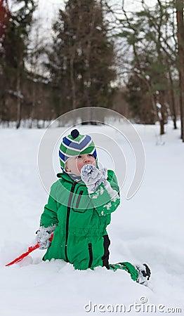 Winter baby joy