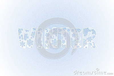 Winter Background With Snowflakes and Text. Vector