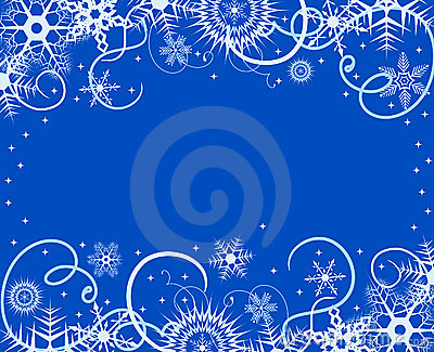 Winter background with snowflakes. Vector illustra