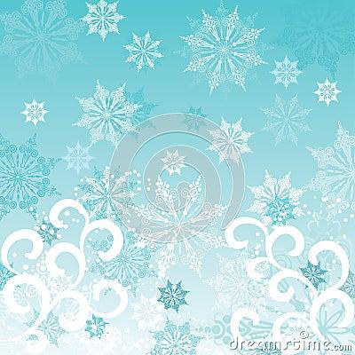Winter background, vector