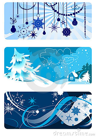 Winter backgrounds set