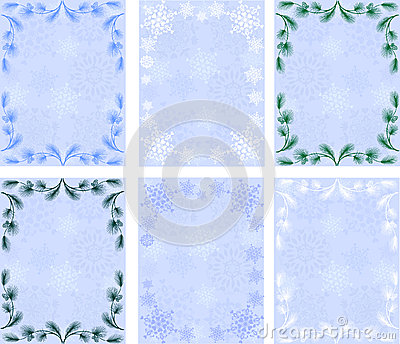 Winter backgrounds.snowflakes.pine branches