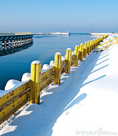 Winter Baltic jetty