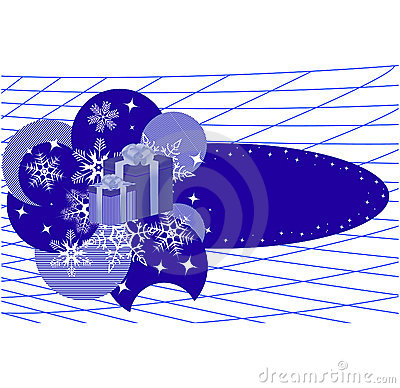 Winter banner with snowflakes