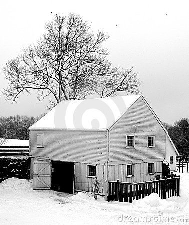 Free Winter Barn Royalty Free Stock Images - 986739