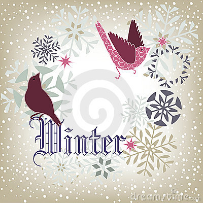 Free Winter Birds Royalty Free Stock Photos - 17524818