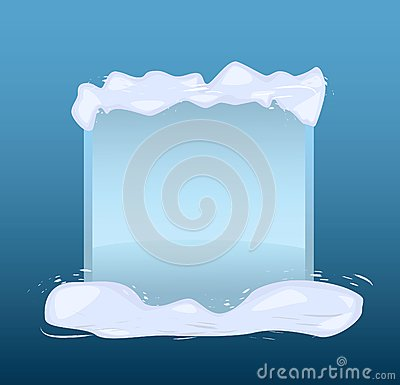 Winter blue banner