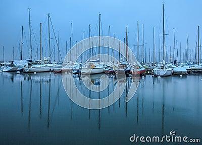 Winter In A Boat Marina